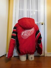 Pre-Owned Red Starter Detroit Red Wings Hooded Pullover Coat Size XL