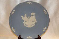 """Wedgwood Blue Jasperware Christmas 1992 3 Kings Collectible Display 7.25"""" Plate"""