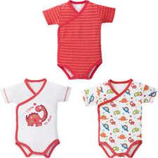 Erwin M/üller Baby-Wickelbody 3er-Pack mit Druckmotiv Interlock-Jersey wei/ß//grau Gr/ö/ße 74 80