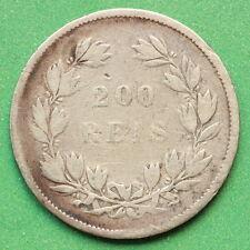 1854 Portogallo 200 REIS Argento SNo42790