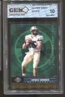 2001 Drew Brees Crown Royale RC Rookie Gem Mint 10 New Orleans Saints