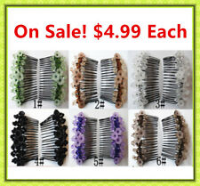 Brand New Stretchy Magic Hair Comb Magic Clips Double Hair In Multiple Colors