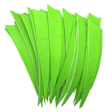 "Archery Fletches 5"" Shield Cut Fluorescent Green Traditional Feather RW - 50PCS"