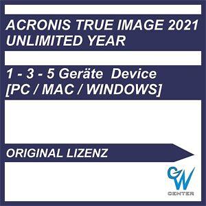 Acronis True Image -2021 [1 - 3 - 5 Geräte / Unbegrenzte Jahre] ORIGINAL ESD
