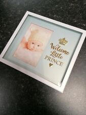 """Baby Boy Photo Frame 4x6 """"Welcome Little Prince"""""""