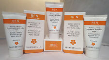 3 X Ren Glyco Lactic Radiance Renewal Mask 15 mL 0.5 oz Boxed