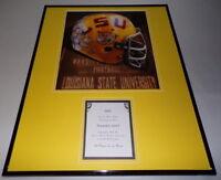 LSU Tigers Football Framed 16x20 Photo & 1922 Killed Tulane Goat Postcard Set