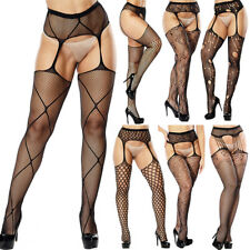 New Sexy Lingerie Women Stockings Lace Garter Belt Fishnet Pantyhose Stocking