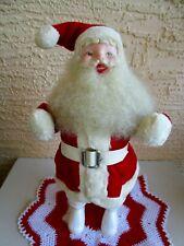 Vintage Harold Gale Santa Claus Huge Woolly Beard &Velvet Suit Table Decoration