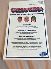 2015 Guess Who ? Vintage Retro Series 1988 Edition Game Instructions Only