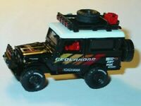 1980 80 TOYOTA LAND CRUISER COLLECTIBLE DIECAST OFF ROAD TRUCK -Black/Tampo 1/64