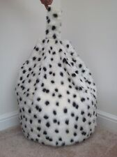Bean Bag Filled Dalmatian Faux Fur 3 CUBIC FT Children's Beanie Christmas gift