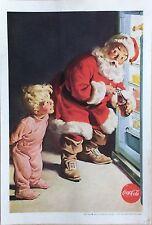 1950's Original Coca-Cola Magazine Ad Coke Santa Revere Electric Camera