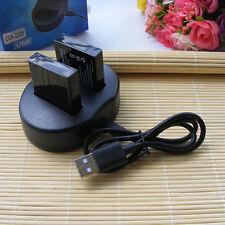 2X CGA-S005e Battery+ USB charger for Panasonic Lumix DMC-FX01 FX07 FX3 FX8 FX9