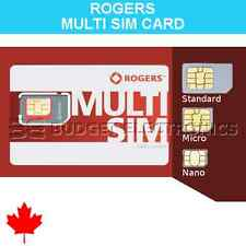 Rogers Triple Multi Format Nano Micro Regular Standard Sim Card Prepaid Canada