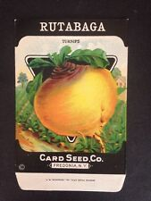 1930s Litho Antique Vintage Seed Packet Rutabaga Turnips Seed Co Pack Mint