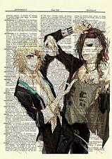 Juuzou Suzuya & Uta Tokyo Ghoul Anime Dictionary Art Print Poster Picture Book