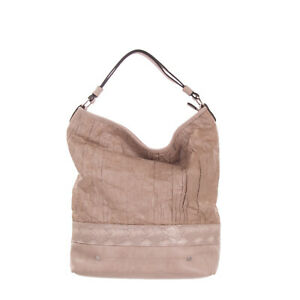RRP €105 TSD12 RESEARCH Hobo Bag Large Crumpled Paper Effect Front Zip Closure