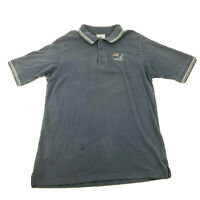 NFL New England Patriots Men's Size M Medium Blue Cotton Polo Shirt Football