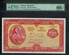 IRELAND 1976 20 POUNDS P-67c GEM UNC PMG 66 EPQ VALUE $1500