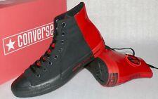 Converse 166534C Ctas HI Canvas Lack Leder Schuhe Sneaker Boots 45 Schwarz Rot