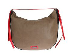 NEW $350 C'N'C COSTUME NATIONAL Brown Leather Hobo Shoulder Bag Purse Handbag