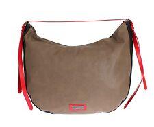 NWT $350 C'N'C COSTUME NATIONAL Brown Leather Hobo Shoulder Bag Purse Handbag