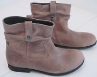 NWOB Birkenstock Sarnia brown waxed leather ankle boots, booties. Sz US 6/Eur 37