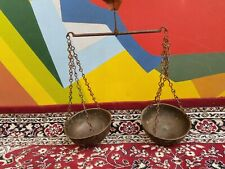 Antique Old Handcrafted Brass & Iron Goldsmith Weight Measurement Balance Scale