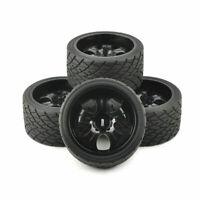 4X 17mm Hex Tires& Wheels Rims For 1:8 RC Model Bigfoot On-Road Car Kforce 26411