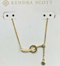 "NWT Kendra Scott Yellow Gold Ever Necklace With Dangle Pendant 18"" NWT"