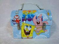 """Tin Box Spongebob Squarepants 2009 Viacom Metal Small Lunchbox 7x6"""" Toy"""