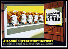 CONTRACTUAL BREEDING AND FATTENING 1965 Gyorgy Pal HUNGARIAN POSTER