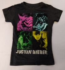 JUSTIN BIEBER Color blocks Girls Medium Concert style T-Shirt              *B1