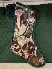 "Tapestry Stocking Christmas Decor 17"""