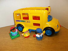 #3 Fisher price little people school bus musical sounds lights toddler toy set