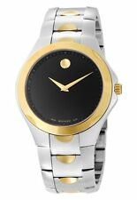 NEW Movado Luno Mens 2 TONE Watch 0606381 FREE SHIPPING