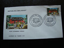 MADAGASCAR - enveloppe 8/5/71 - journee du timbre - yt n° 488 - (cy5) (Z)