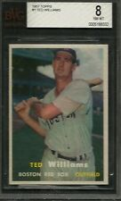 1957 TOPPS #1 TED WILLIAMS BVG 8 NM-MT BOSTON RED SOX HOF BASEBALL