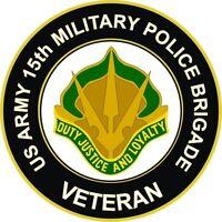 "15th Military Police MP  Brigade Veteran 5.5"" Crest Sticker 'Officially Licensed"