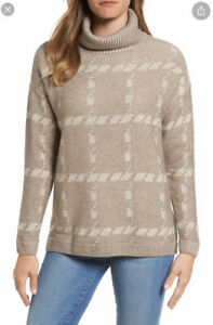 BARBOUR Wool and Cashmere Blend Roll Neck Beige Jumper UK14  RRP£90 *PERFECT*