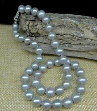 AAA 10-9 mm south sea gray pearl necklace 18 inch 14K WHITE  GOLD CLASP