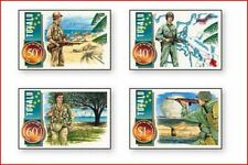 TUV9505 The Pacific War 4 stamps