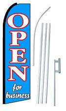 Open For Business Extra Wide Swooper Flag Bundle