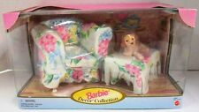 Barbie Living Room Floral Arm Chair + Ottoman (Barbie Decor Collection) (NEW)
