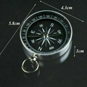 Portable Pocket Compass Hiking Scouts Walking Camping Survival AID Guides UK