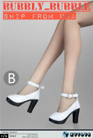 "1/6 Female Shoes Sandals White Color For 12"" PHICEN Hot Toys Figure ☆USA☆"