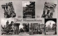 Bad Mergentheim frankiert Eichendorff 1957 Schäferdenkmal Karlsquelle Markt u.a