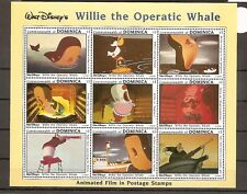 Dominica 1993 SG1772-80 9v Sheet NHM  Walt Disney's-Willie the Operatic Whale