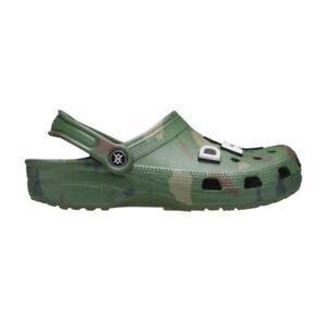Crocs Daily Paper X Classic Clog Green Camo Size 13 New
